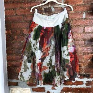 Edme & Esyllte Anthropoligie  A-Line  Full Skirt 6